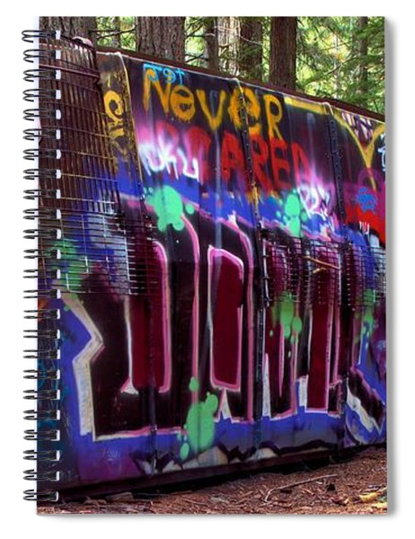Derailment In Brtish Columbia Spiral Notebook