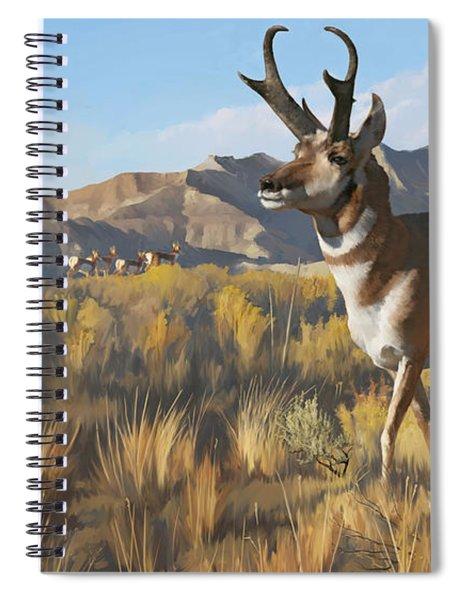 Desert Buck Spiral Notebook