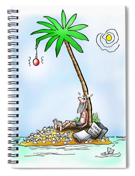 Desert Island Christmas Spiral Notebook