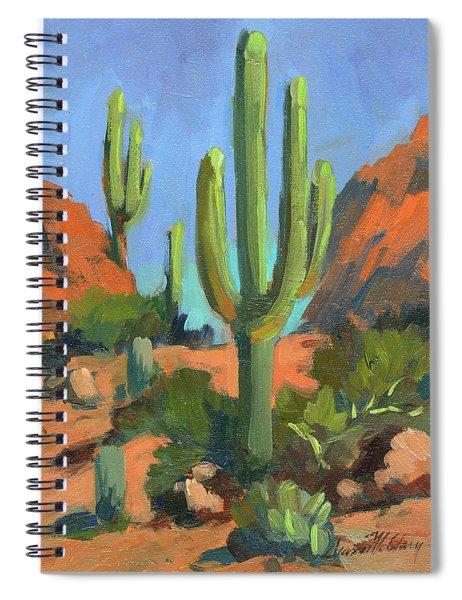 Desert Morning Saguaro Spiral Notebook
