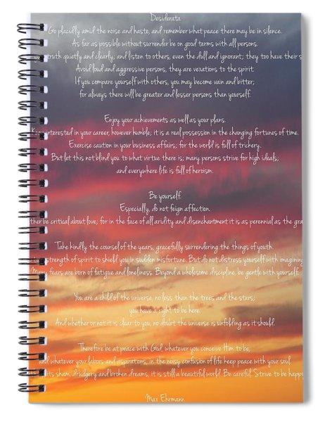 Desiderata Sky 2 Spiral Notebook