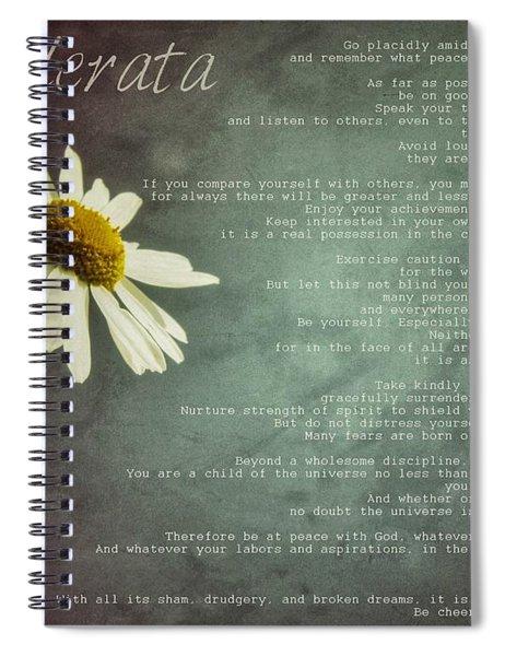 Desiderata With Daisy Spiral Notebook
