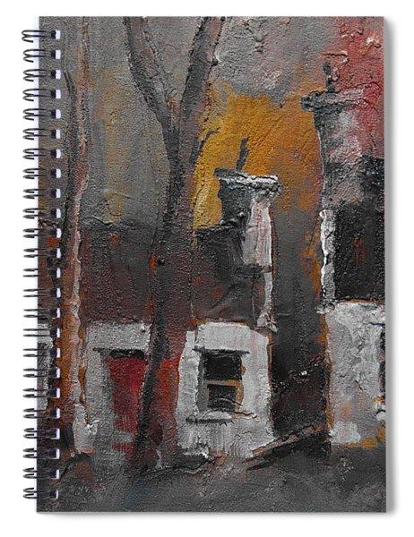 Detached Cottages Dusk Spiral Notebook