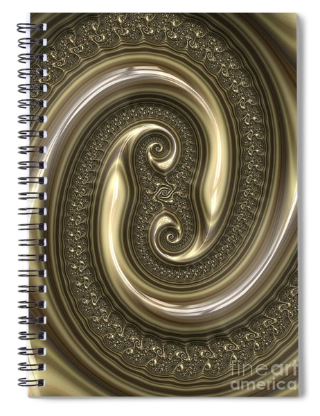 Detail From Repousse In Bronze Spiral Notebook