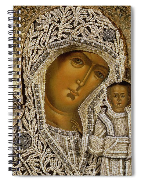 Detail Of An Icon Showing The Virgin Of Kazan By Yegor Petrov Spiral Notebook