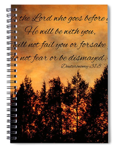 Deuteronomy The Lord Goes Before You Spiral Notebook