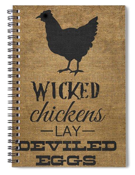Deviled Eggs Spiral Notebook