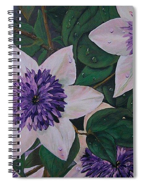 Clematis After The Rain Spiral Notebook