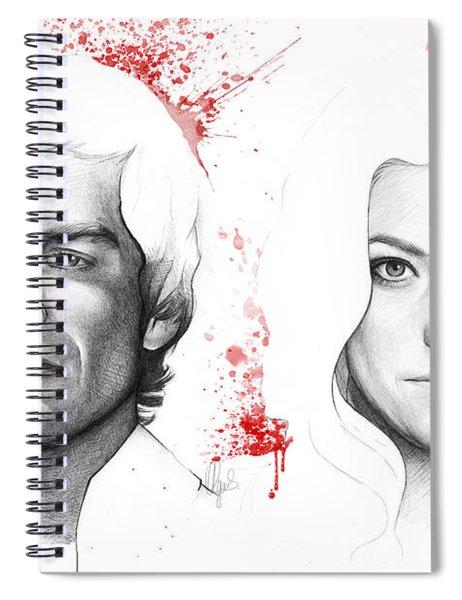 Dexter And Debra Morgan Spiral Notebook