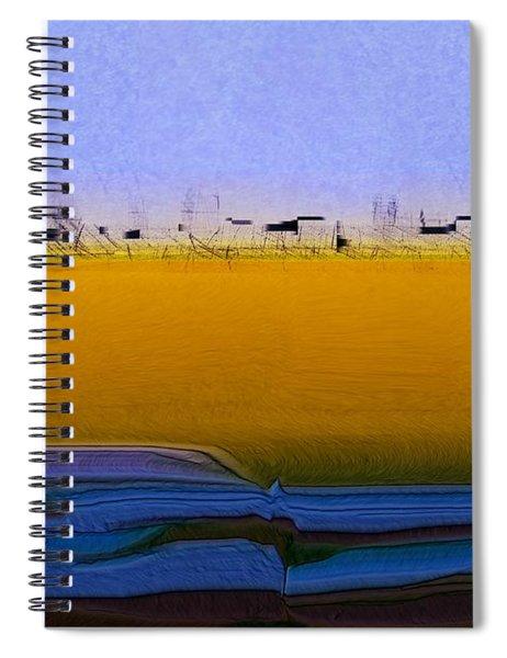 Digital City Landscape - 2 Spiral Notebook
