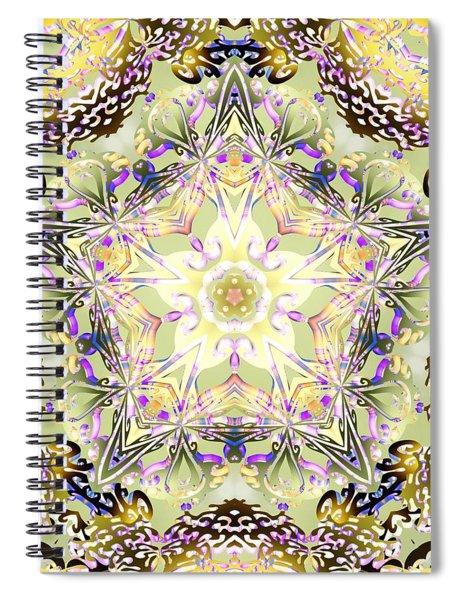 Spiral Notebook featuring the digital art Digmandala Simha by Derek Gedney