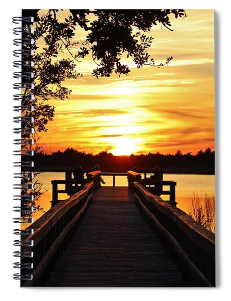 Disappearing Sun  Spiral Notebook