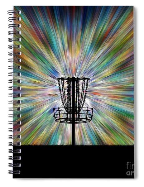 Disc Golf Basket Silhouette Spiral Notebook