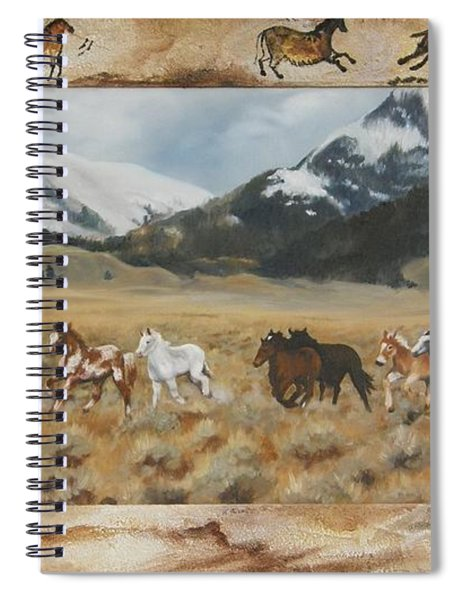 Discovery Horses Framed Spiral Notebook