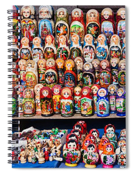 Display Of The Russian Nesting Dolls Spiral Notebook