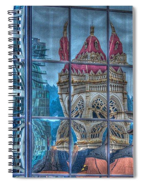 Distorted Portland Spiral Notebook