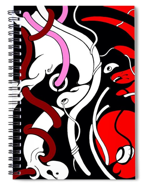 Disturbing Spiral Notebook