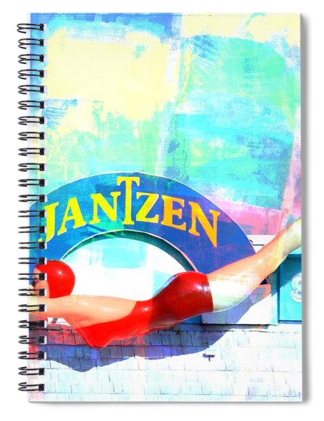 Diving Girl Colors Spiral Notebook