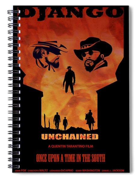 Django Unchained Alternative Poster Spiral Notebook