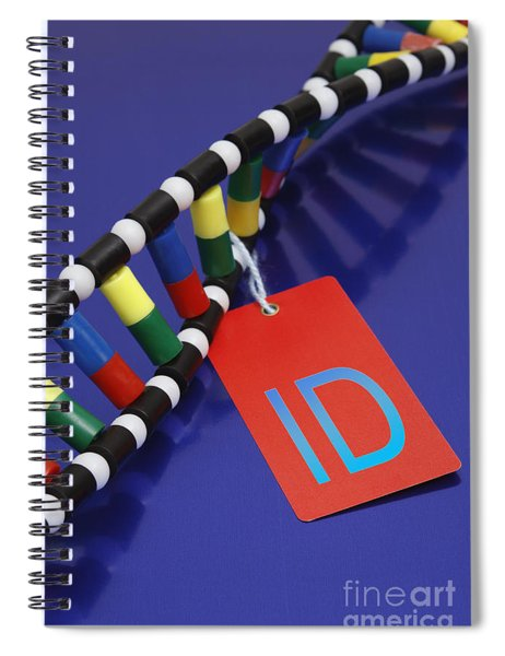 Dna Double Helix, Id Tag Spiral Notebook