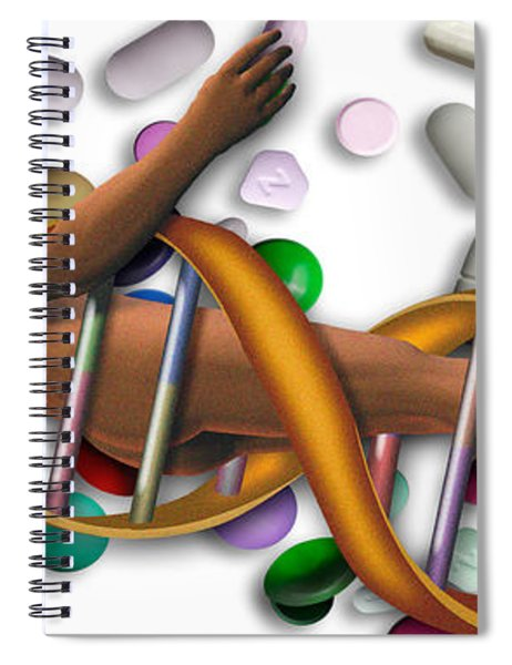 Dna Surrounded By Pills Spiral Notebook