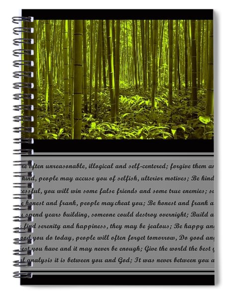 Do It Anyway Bamboo Forest Spiral Notebook