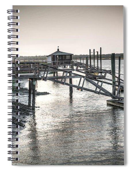 Docks Of The Bull River Spiral Notebook