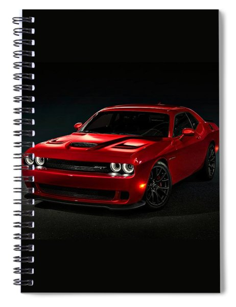 Dodge Challenger S R T Hellcat Spiral Notebook