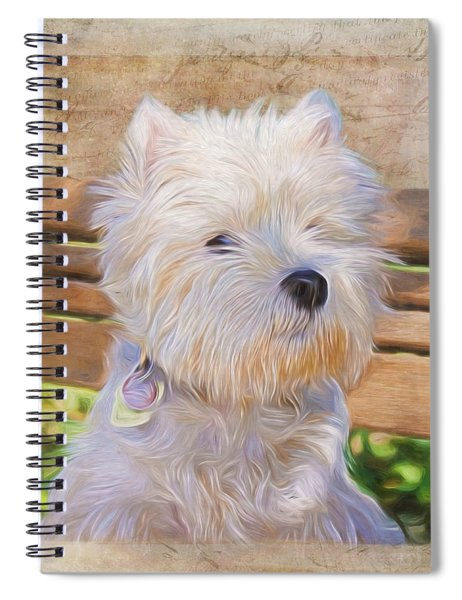 Dog Art - Just One Look Spiral Notebook