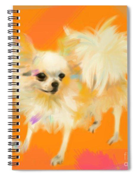 Dog Chihuahua Orange Spiral Notebook