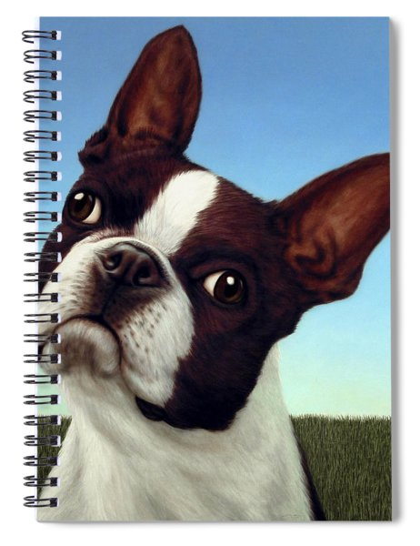 Spiral Notebook featuring the painting Dog-nature 4 by James W Johnson