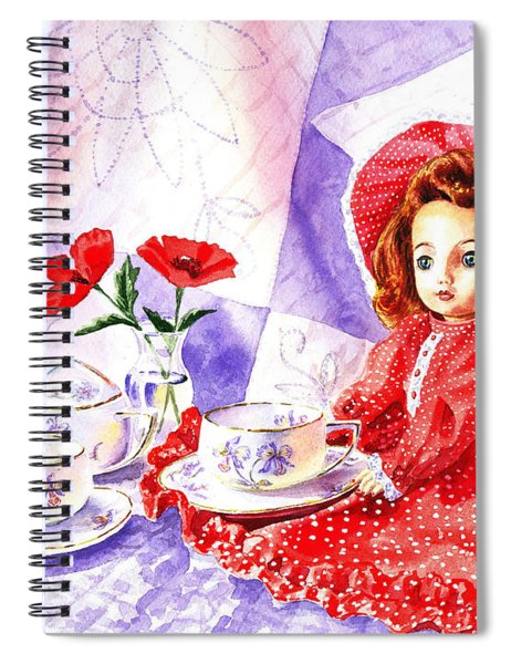 Doll At The Tea Party  Spiral Notebook
