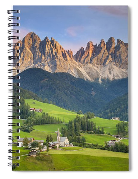 Spiral Notebook featuring the photograph Dolomites From Val Di Funes by Brian Jannsen