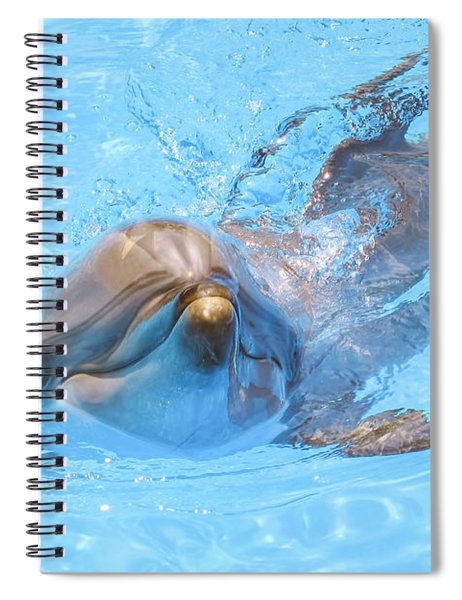 Dolphin Swimming Spiral Notebook