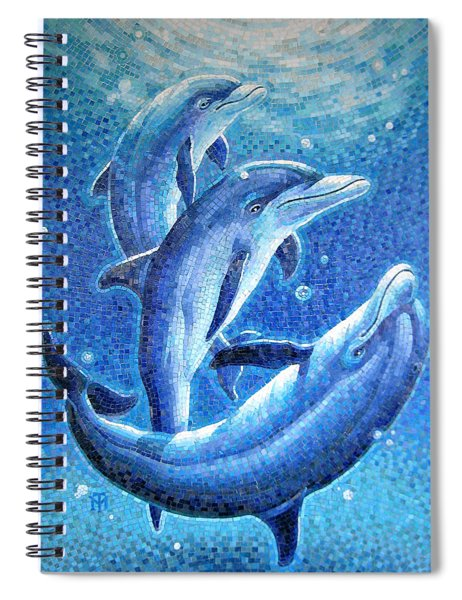 Dolphin Trio Spiral Notebook