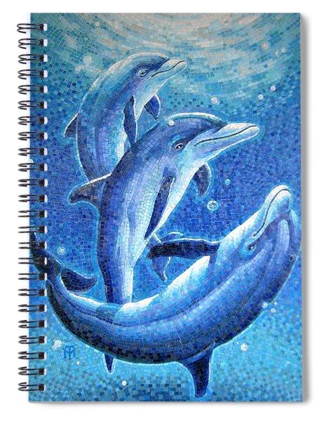 Dolphin Trio Spiral Notebook