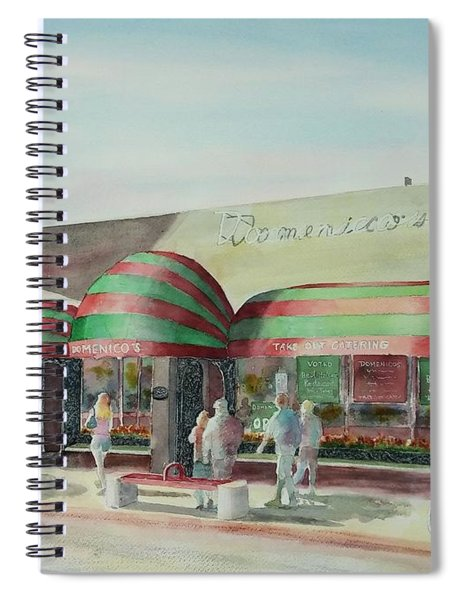 Domenicos In Long Beach Spiral Notebook
