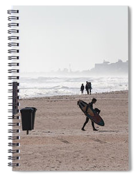 Spiral Notebook featuring the photograph Done Surfing by Ed Gleichman