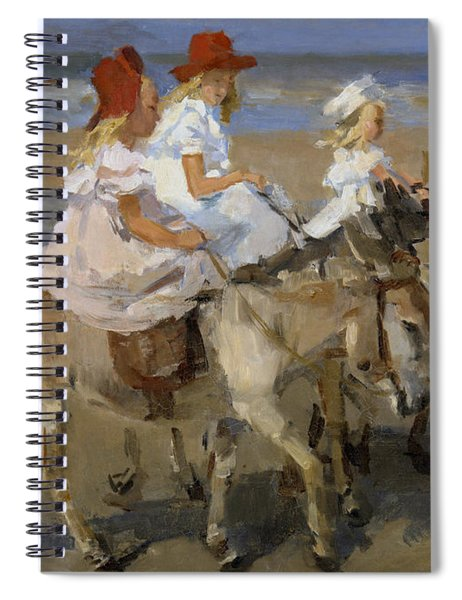 Donkey Rides Along The Beach Spiral Notebook