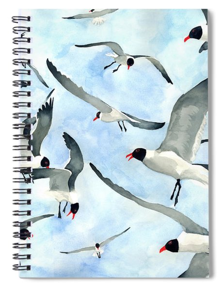 Don't Feed The Seagulls Spiral Notebook