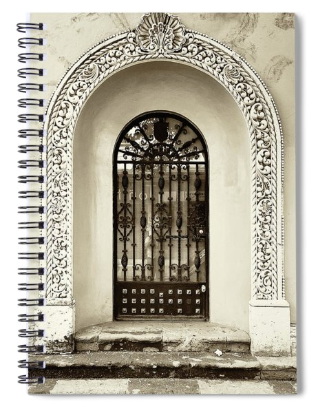 Door With Decorated Arch Spiral Notebook