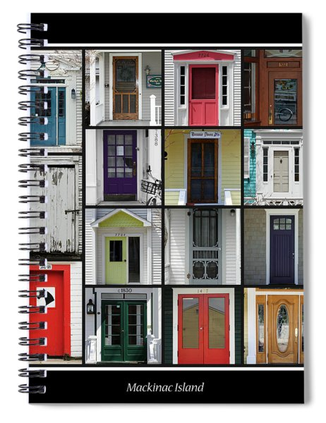 Doors Of Mackinac Island Spiral Notebook