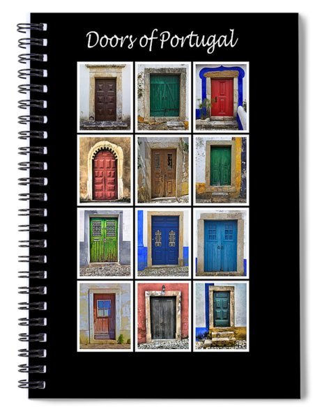 Doors Of Portugal Spiral Notebook
