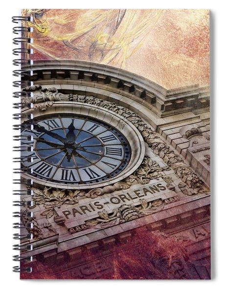 D'orsay Clock Paris Spiral Notebook