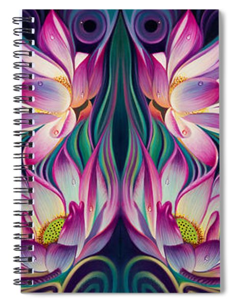Double Floral Fantasy 2 Spiral Notebook