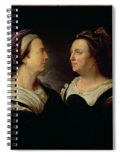 Double Portrait Of Marie Serre, The Artists Mother, 1695 Oil On Canvas Spiral Notebook
