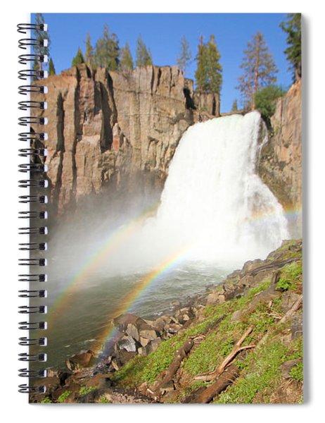 Double Rainbow Falls Spiral Notebook