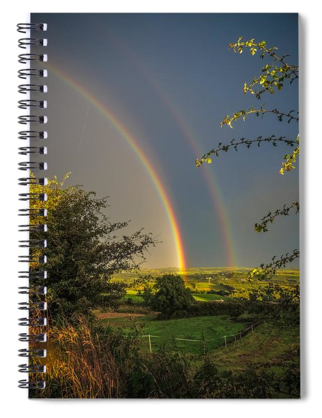 Double Rainbow Over County Clare Spiral Notebook