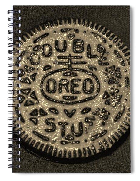 Double Stuff Oreo In Sepia Negitive Spiral Notebook