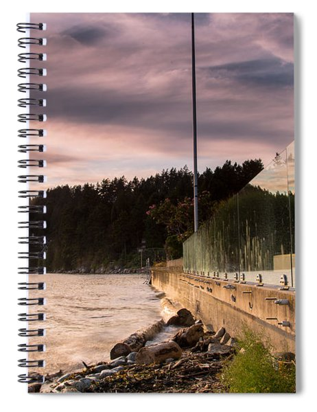 Double The Sunset Spiral Notebook